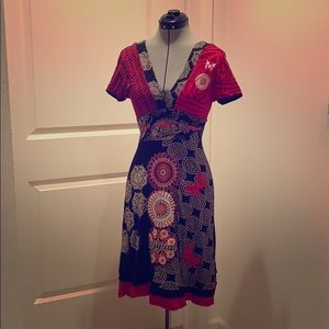 Gorgeous Desigual black and red dress